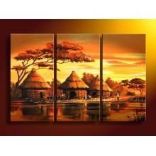 Handgemachtes afrikanisches Landschafts-Ölgemälde (AR-066)
