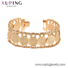 75193 Xuping new selling popular wide gold cuff bracelet fashion chains jewelry nickel free