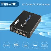 Convertisseur S-Vidéo vers HDMI RCA AV (HD 720p / 1080p Upscaler)