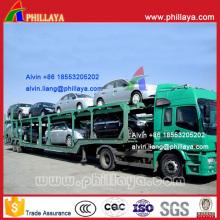2-Axle-4-Wheel Skeleton Type Car Transport Semi Truck Trailer (8 autos)