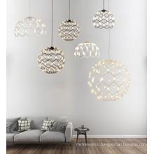 Modern energy saving round indoor decorative led white pendant lamp light