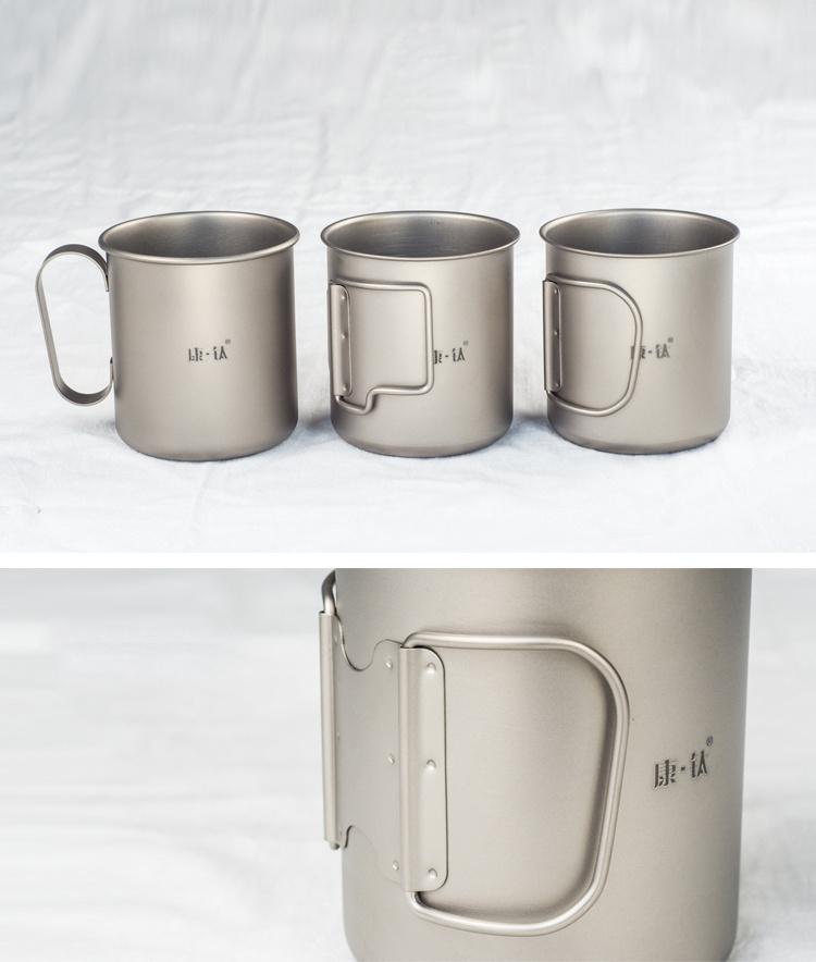 Pure titanium multifunctional cup