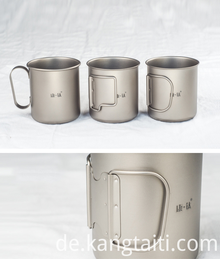 Pure titanium multifunctional cup