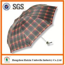 Neueste Fabrik Großhandel Sonnenschirm Print Logo Haken Griff klappbare Dach