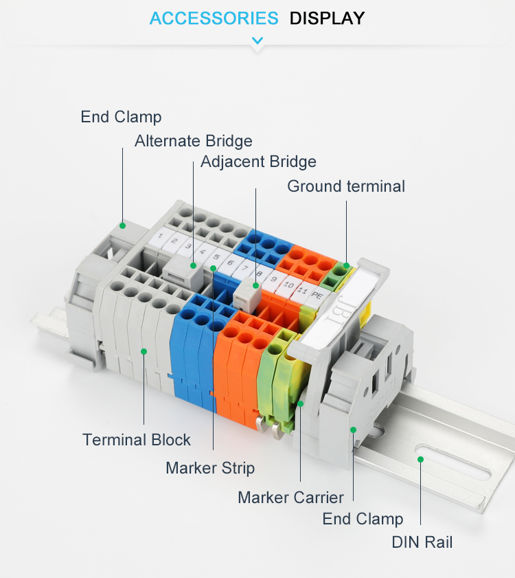 electrical din rail terminal blocks