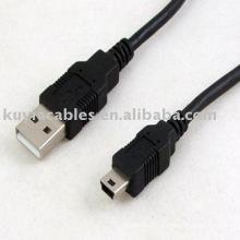 Noir Mini câble USB 5-USB USB 2.0 pour appareil GPS, mini dvr, mp3, MP4