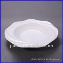 Chaozhou porcelana fábrica onda fronteira porcelana sopa placa