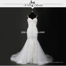 RSW715 Rhinestone Beaded Sequin Latest Bridal Wedding Gowns Pictures Wedding Dresses Feather Skirt