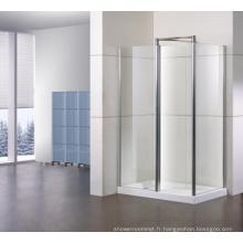Cabines de douche rectangulaires avec panneau latéral + une ligne Tl-Lws1000 + Tl-Lwsp080