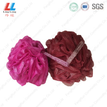 Special color soft touch body exfoliating sponge ball