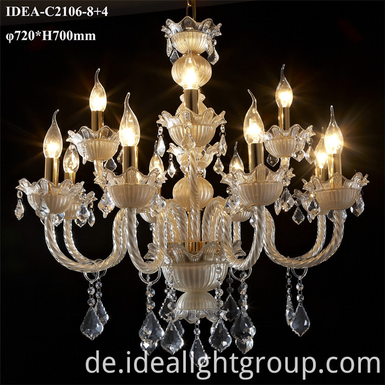 glass material chandelier