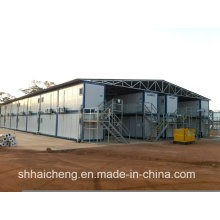 Camp of Construction Site Built of Prefab Container (shs-fp-camp061)