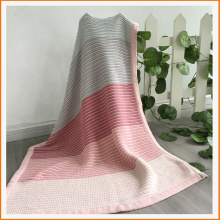 Unisex Knitted Organic Multi-colored Baby Blanket