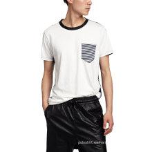 Camiseta con cuello en contraste de hombre Hip Hop