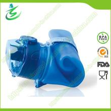 Bouteille d'eau douce pliable en silicone, bouteille de silicone sportive