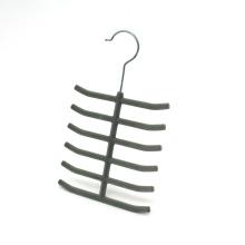 Velvet Tie Hanger, Flocked Scarves Hanger, Hot Sale Plastic Hanger