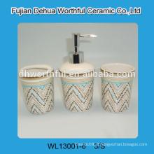 Acessórios de banheiro de cerâmica mais vendidos em design colorido