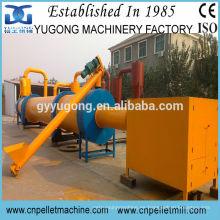 Secador de aserrío de madera industrial aprobado CE, secadora de chips de madera, secadora rotativa