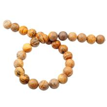 14MM Loose natural Gemstone Picture Jasper Round Beads for Making jewelry
