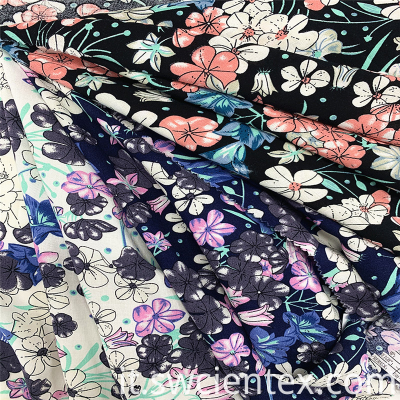 Fashionable Floral Print 100 Rayon Blouse Women Fabric 2