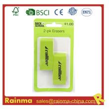 2-Pack Jumbo Grüner Radiergummi für Büro