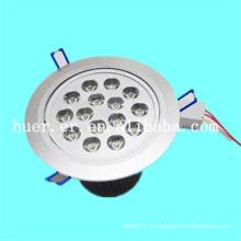 Productos de alta calidad uso en interiores 12w 15w 18w AC85-265v 48v dc llevó downlight para el aeropuerto