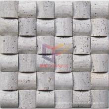 Silver Grey Travertine Mosaic Tile (CFS936)