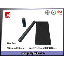 Folha de POM Material Plástico Acetal ESD