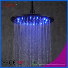 Cabezal de ducha redondo negro Fyeer Manufacturer con 3 colores LED