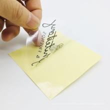Cheap wholesale custom private brand name logo transparent PVC sticker label printing