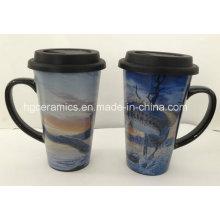16oz Decal Printed Mug, Full Printing Mug