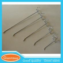 estándar de una sola clavija de metal usado percha de alambre de parrilla de visualización de ganchos