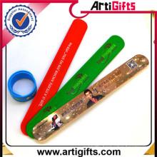 Promotionalgifts custom silicone ruler slap bracelet
