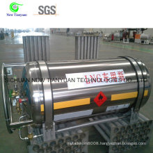 Vehicle Cylinder with Liquid Natural Gas Medium for Gas Storage