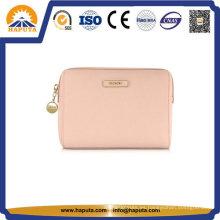 Bolsa de cosméticos de transporte de cuero rosa baratos Neceser (HB-6662)