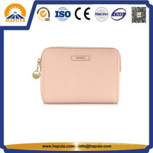 Cheap Pink Leather Carry Cosmetic Bag Toiletry Bag (HB-6662)
