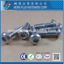 Fabriqué à Taiwan en acier inoxydable A4 Socket Button Head Special Cap Screw Vis captive