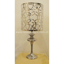 Modern Laser-Cutted Steel Table Lamp