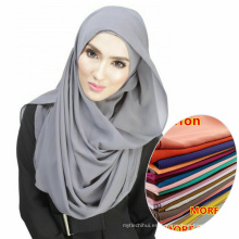 Venta caliente whosale mujeres usan fácil musulmán musulmán bufanda chifón hijab
