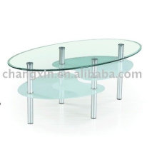 Factory Direct Sales Ellipse Glass Coffee Table
