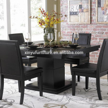 4 person wooden restaurant table set XYN1486