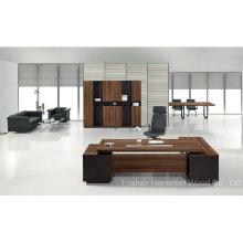 Modern Office L Shape Wood Executive Boss Table Furniture (HF-TWB111)