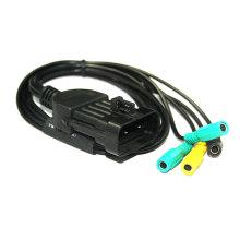 para FIAT 3 pines a conector OBD de 4 Kts-Clip herramienta de diagnóstico