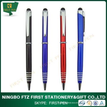 Promocional 2 en 1 pluma estilizada del metal