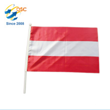 Wholesale wave hand flag in polyester with plastic pole in lowest price