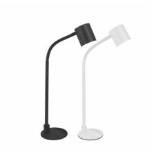 Candeeiro de mesa LED preto com controle remoto
