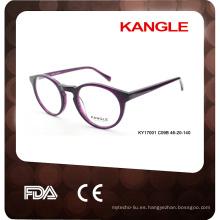 Marco caliente de las lentes seguro del acetato de la venta con el certificado
