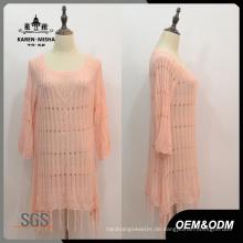Frauen benutzerdefinierte Fringe Saum Kleid