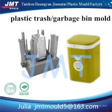Uso doméstico cubo de basura de plástico de colores; Rose Red Trash Can