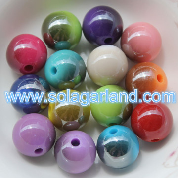 6-20MM Super glanzende kunststof sappige Globe kralen metalen Two Tone
